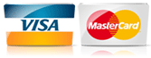 We accept VISA and MASTERCARDS