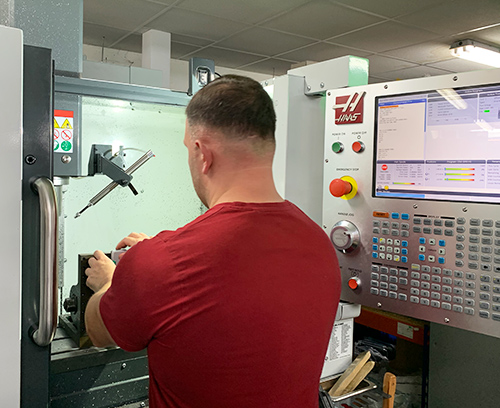 Skilled operators ensure accurate machining