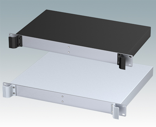 1U cases with fixed solid top cover