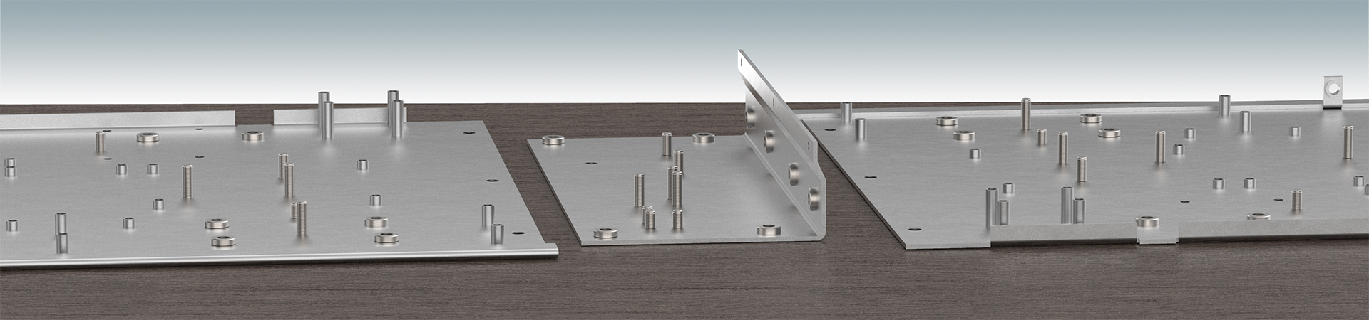 Inserting hardware into sheet metal