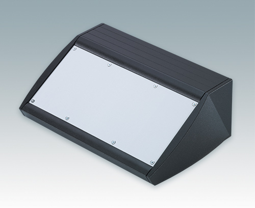 Desktop sloping front enclosures